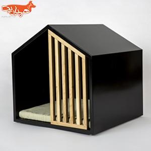 خانه سگ شیک مدل HOOMIE سایز 40x40 رنگ مشکی